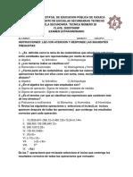 Examen Extraordinario 3er Tc28 Alumno