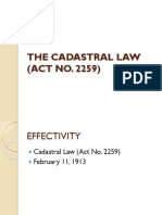 The Cadastral Law