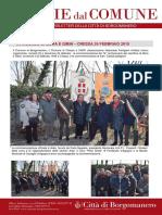 Notizie Dal Comune di Borgomanero del 24 Febbraio 2019 - Speciale Mora e Gibin