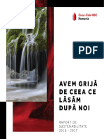 Raport de Sustenabilitate 2016 2017 Coca Cola Hbc Romania