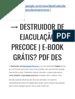 → Ejaculaçao Precoce Exercicios | Destruidor de Ejaculação Precoce Infalível
