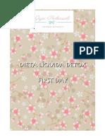 Dieta Líquida Detox de 1 Dia