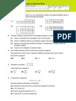 ficha preparação7º ano Matemática teste fev 2019