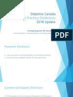 2018 Diabetes Canada Practice Guidelines Update