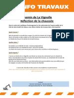 Chemin de La Vignolle Mars 2019