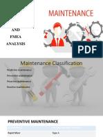 Maintenance Patterns and Fmea Analysis