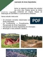 Conferencia 10. Recuperação de Áreas Degradadas.