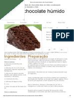 Bolo de Chocolate Húmido e Fofinho