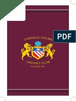 Cheadle Hulme CC Handbook 2017