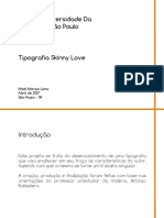Tipografia Skinny Love