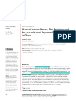 Moe and Internet Memes the Resistance and Accomodation of Japanese Popular Culture in China
