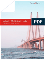 Industry Multiples in India October 2017