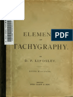 Elements of Tachygraphy - Dewey's Shorthand
