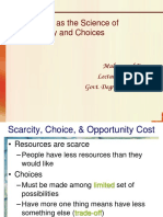 Chapter 3 - The Fundamental Economic Problem - Scarcity and Choice