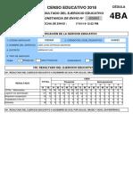 Cedula 4ba - Centro Educativo 2018
