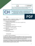 CNR-ICVBC Governance of Beni Culturali-programma_corso