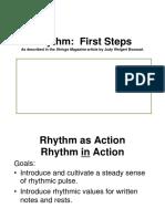 Rhythm First Steps Presentation