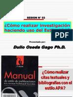 COMO REALIZAR INVESTIGACIONES EN EL ESTILO APA