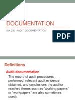 2018 Audit Documentation