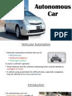 Autonomous Car PPT