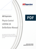 Physio Control Lifepak 20 Defibrillator Manual