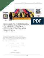 Normas Sobre Clasificación de Establecimientos de Atención Médica Del Sub-sector Salud en Venezuela - Unidad de Investigación en Salud Pública y Gestión Hospitalaria Venezuela