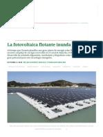 La Fotovoltaica Flotante Inunda Los Paisajes – Pv Magazine Latin America