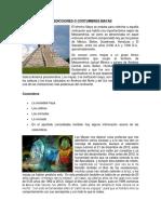 Predicciones o Costumbres Mayas