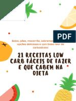 E Book 21 Receitas Low Carb Que Cabem Na Dieta