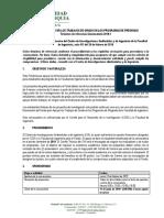 Terminos de Referencia Convocatoria Trabajos de Grado 2019-1