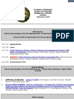 Fauquier Planning Commission Agenda Feb. 21, 2019