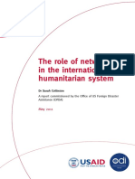 The role of networks in the international humanitarian system