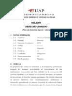Silabo Derecho Romano - Universidad Alas Peruanas