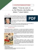 Jean Gabin Nait à Paris Le 17