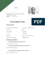Curriculum Vitae de Teresita Chaparro