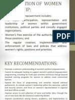 empowerment and autonomy of women