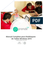 Manual Completo de Desbloqueo Tableta Windows 2015