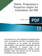 7. Portafolio, Programas y Proyectos
