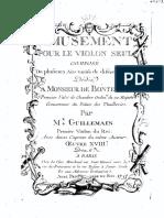 Amusement Pour Le Violon Seul, Op.18 (Guillemain, Louis-Gabriel)