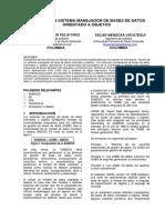 Diseño de Un Sistema Manejador de Bases de Datos Orientado a Objetos