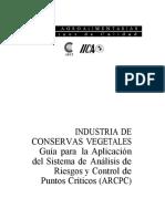 PUNTOS CRITICOS DE CONTROL PCC CONSERVAS VEGETALES