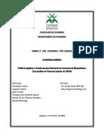 Políticas Agrárias e Transformação Estrutural da Economia de Moçambique