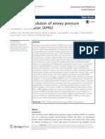 The 30-Year Evolution of Airway Pressurerelease Ventilation (APRV)