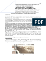 FIELD STUDY OF THE DISTRIBUTION OF LATERAL SWELLING PRESSURE OF EXPANSIVE SOIL ON RETAINING STRUCTURE