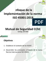 Enfoque de La Implementacion de La Norma ISO 45001-2018