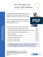 Community Resources for People Living With Diabetes