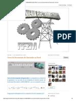 INGENIERIA ELECTRICA_ Curva de Decremento de Generador en Excel