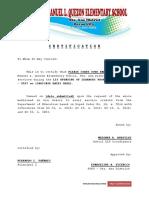 Sample Service Credit Letter for LIS