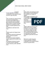 032.- Himno Nacional Mexicano