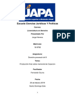 Produccion Final Derecho Procesal Civil II Uapa Jorge Herrera